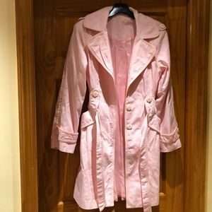Baby pink trench coat, lined